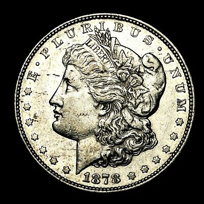 1878 P 8TF ~**HIGH GRADE**~ Silver Morgan Dollar Rare US Old Antique Coin! #M86