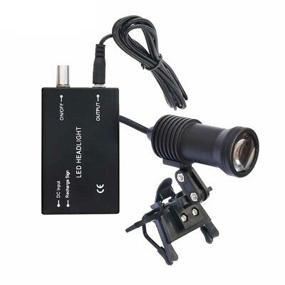 Dental Loupe with 5W LED Headlight Medical Surgery Rechargeable Lithium Battery