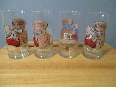 1982 E.T. Limited Edition Collector Series Drinking Glasses Set of 4