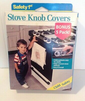 NIB Safety Child Proof Clear Stove knob covers 5 Pack helps to prevent accidents