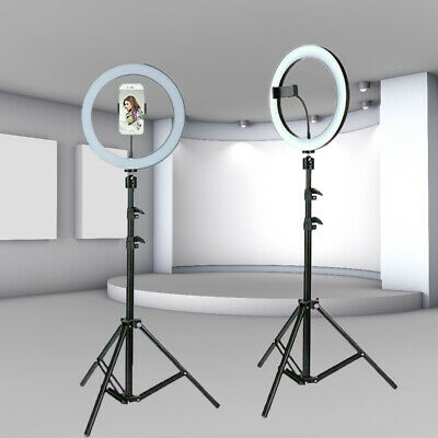 """8""""/10"""" LED Ring Light Photo Video Dimmable Lamp Tripod Stand Camera Selfie Phone"""
