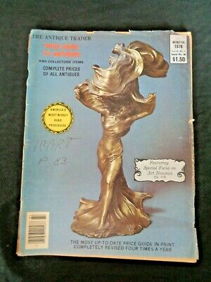 Antique Trader Price Guide To Antiques Magazine 1978 Icart Art Nouveau Tiffany