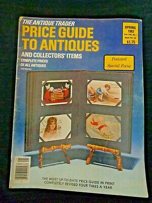 Antique Trader Price Guide To Antiques Magazine 1982 Postcards Advertising Cards