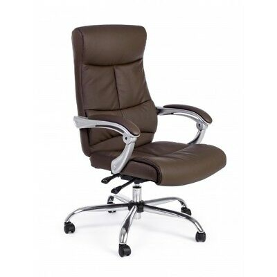Office Armchair with Armrests Lisbon Brown Recliner