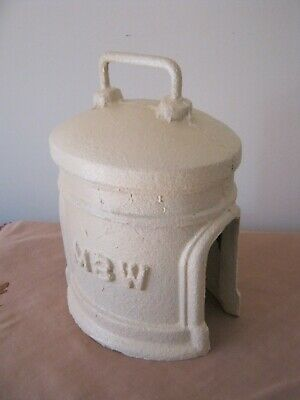 Antique CAST IRON Water Meter Cover. M.B.W. Melbourne Board of Works. Door stop?