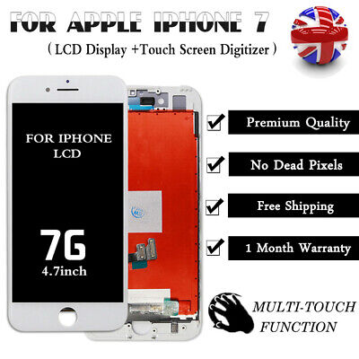 """White For iPhone 7 LCD Display Digitizer Touch Screen Replacement Assembly 4.7"""""""