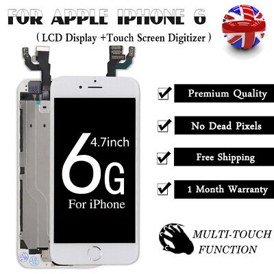 White For iPhone 6 Screen Replacement LCD Touch Display Digitizer + Home Button