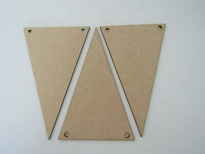 Wooden MDF Triangle Bunting Flags Range Of Sizes/Pack Sizes