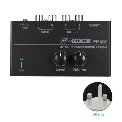 PP500 Phonograph With Level Preamplifier Turntable Ultra Compact Phono Preamp