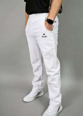 Men's Henselite Sports Bowls Trousers - White - Clearance Sale Of Older Stock