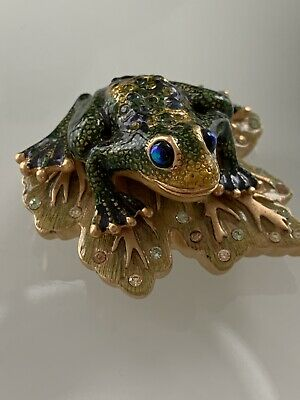 Jay Strongwater Enameled Frog From Estée Lauder 2002