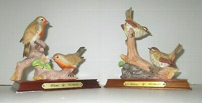 Two Vintage Leonardo Displays - Wrens and Robbins