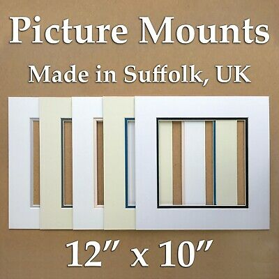 """Picture Mounts - 12"""" x 10"""" double mounts, packs of 5/10"""