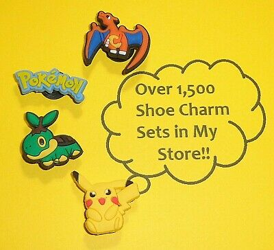 Shoe Charms pokemon Shoe Buttons Plugs Decoration Cake Toppers  auction