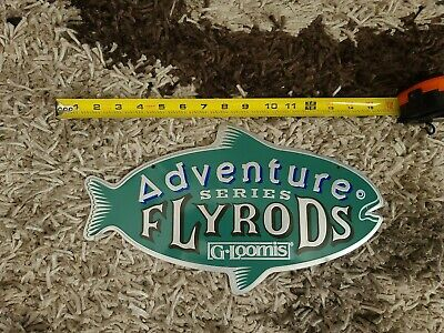 Vintage G-Loomis Tin Sign Adventure Series FLYRODS RARE DEALER ONLY SIGNS