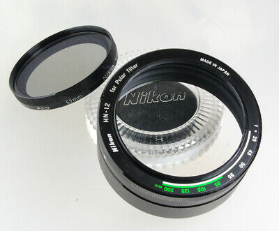 Genuine Nikon 52mm Polarising Filter with its Correct HN-12 Two Part  Lens Hood