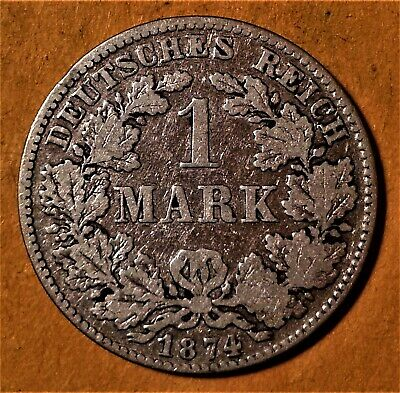 Germany Lot of 6 Different Silver 1 Mark Coins (1874-1886)  (Y-17 type)