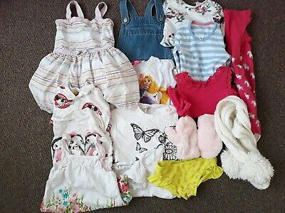 Girls dresses, scarf, tights, mittens, tops, dungarees age 4-6 years