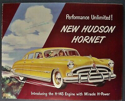 1951 Hudson Hornet Brochure Sedan Convertible Brougham Coupe Excellent Original