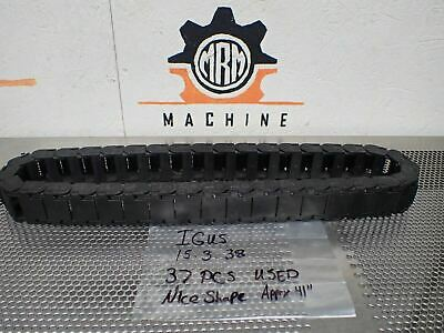 """IGUS 15.3.38 Cable/Wire Carrier Chain Approximately 41"""" Long (37 Links) Used"""