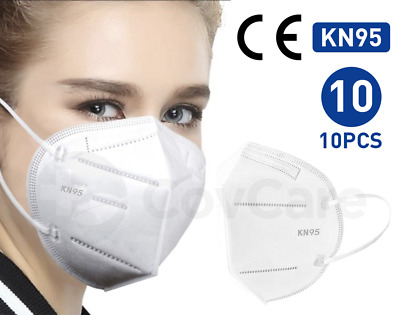 [10 PACK] KN95 Disposable Protective Face Mask 5-LAYERS CE/ECM Certified Safety