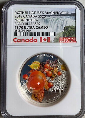 2018 Canada Morning Dew $20 Silver NGC PF70UC Early Releases