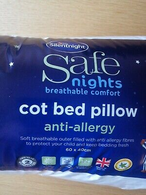 Silentnight Safe Nights Anti Allergy Cot Bed Toddler Nursery Pillow