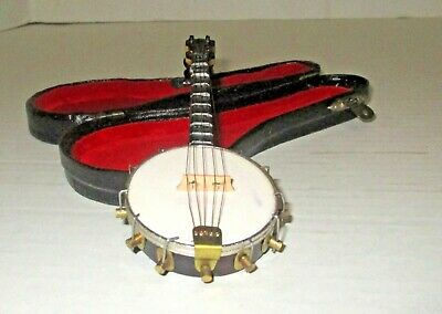 Miniature Instrument With Case - Banjo