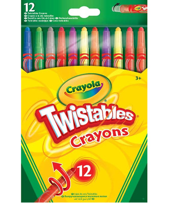 CRAYOLA 12 Twistable Crayons Kids Children Painting Colouring Drawing Art Craft