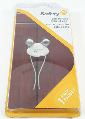 NEW Safety 1st Side by Side Cabinet Lock #HS159 1 Pack - Child / Baby Proof