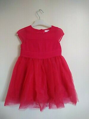 Stunning girls Ted Baker Fusia Pink Party Dress Age 3-4