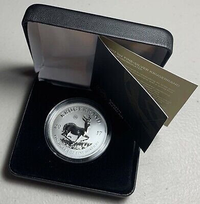 2017 50th Anniversary South Africa 1 oz Silver Krugerrand w/ Box and COA