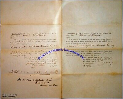 Kamehameha V signed First Honolulu Cavalry commission 1863 - large & rare