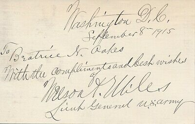 Nelson A. Miles - Autograph Inscription and Signature by the U.S. Army General
