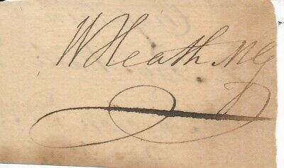 William Heath - Signature of the Continental Army Major General