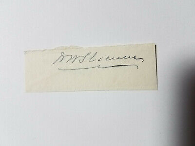 Henry W. Slocum - Signature of the Union Army General & U.S. Congressman