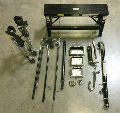 Full Columbia / DM Drywall Auto Taping Tools Set w/ Dura-Stilts, Bench, EXTRAS!