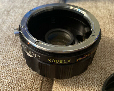 VINTAGE 2X SPIRATONE TELXTENDER LENS AUTO MODEL II FOR NIKON JAPAN With Case