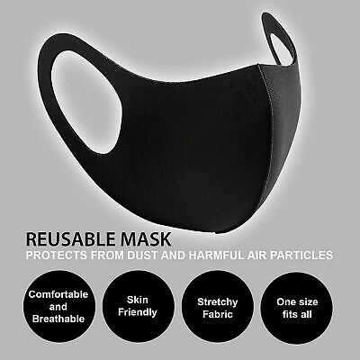Men and Women Face Mask Black and blue , Mouth & Nose Protection Masks (UK)