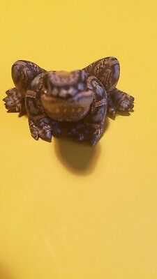 Hand Crafted Polymer Clay 2004 Frog Sculpture