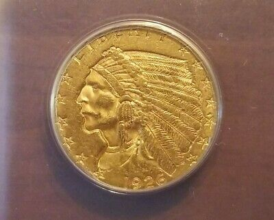 1926 $2.5 Gold Quarter Eagle ANACS AU55 Indian Head Cert Genuine Graded Coin!