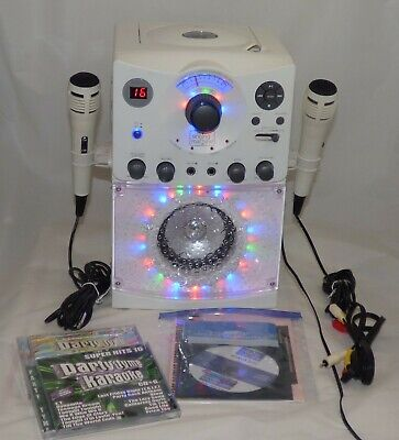 The Singing Machine Karaoke System w/ Second Mic & Lyrics on TV & Party Tyme CDs