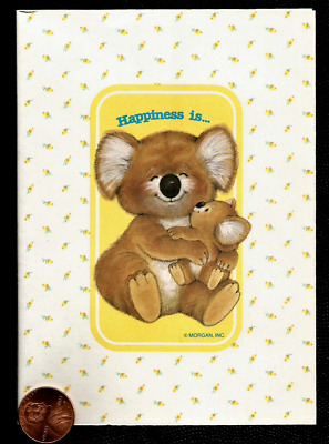 VINTAGE Koala Bears Mom Baby Happiness Is *THIN* Small Greeting Note Card UNUSED