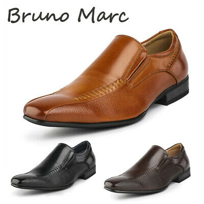 BRUNO MARC Mens Classic Business Dress Shoes Square Toe Slip On Loafer Shoes