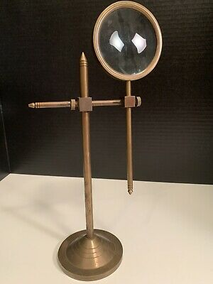 Brass Magnifying Glass With Adjustable Stand