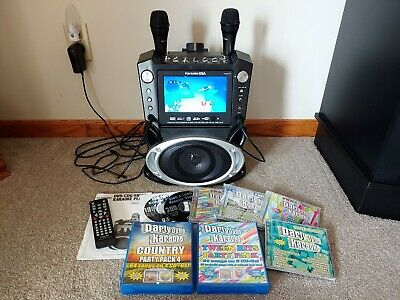 Karaoke machine with lots of CD's