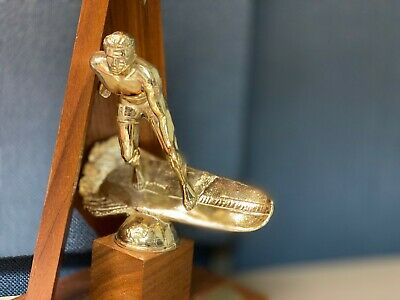 RARE Vintage Metal Surfing Trophy HAWAIIAN SURF RIDER Hawaii Duke