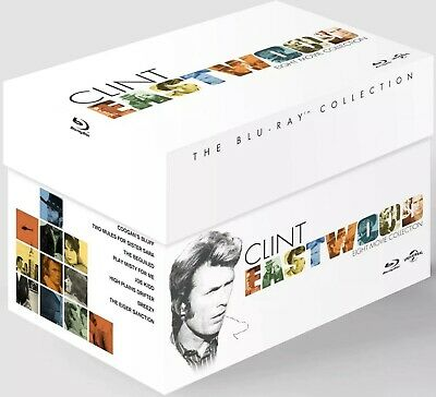 Clint Eastwood The Collection Box Set Blu-ray New Sealed 8 Film RRP £59 (1)
