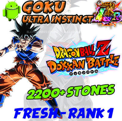 🌟 Battle - GOKU UI LR with 2200+ Stones - FRESH - Global - Dokkan
