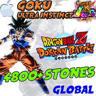 🌟 NEW Goku UI LR with 4800+ Stones FOR Dokkan iOS APP Global 🌟Battle Stones